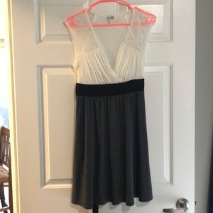 Speechless Black, Grey, and White Dress - Size L
